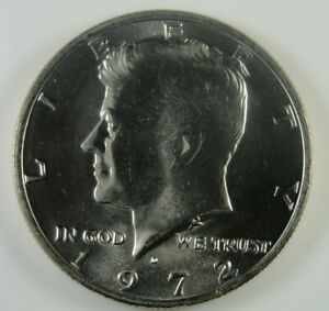 1972 D KENNEDY HALF DOLLAR BRILLIANT UNCIRCULATED  HG