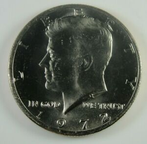 1972 P KENNEDY HALF DOLLAR BRILLIANT UNCIRCULATED  HG