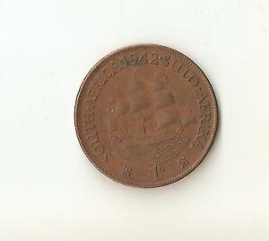 1942 LARGE SOUTH AFRICA ONE PENNY COIN
