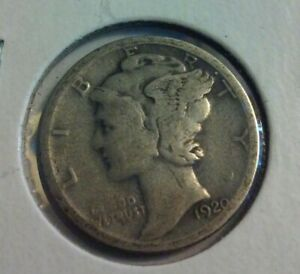 1920 S MERCURY DIME   .900 SILVER   IN4219