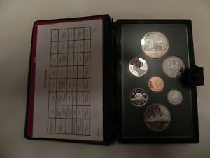 1981 CANADA DOUBLE $$ PROOF SET  SILVER  ORIGINAL PACKAGE & COA