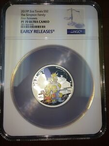 Click now to see the BUY IT NOW Price! 2019 TUVALU SILVER $2   THE SIMPSONS FAMILY   PF70 UC ER NGC COIN   ERROR LABEL
