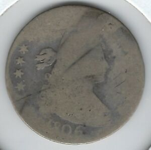 1806 DRAPED BUST QUARTER   READABLE DATE