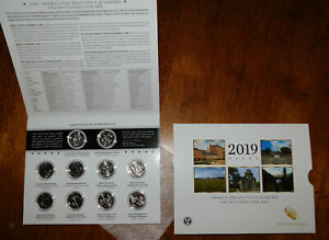 2019 AMERICA THE BEAUTIFUL 25C FROM PHILADELPHIA & DENVER MINTS 10 COIN SET