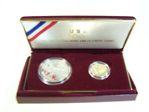 Click now to see the BUY IT NOW Price! UNITED STATES MINT 1988 OLYMPIC COINS/ COMMEMORATIVE PROOF SET   ORIGINAL BOX