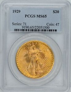 Click now to see the BUY IT NOW Price! 1929 $20 GOLD SAINT GAUDENS MS 65 PCGS WOW