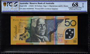 Click now to see the BUY IT NOW Price! 2004 AUSTRALIA $50 BANKNOTE SPECIMEN SERIAL BM04  000000  PCGS SUPERB GEM UNC 68