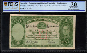 Click now to see the BUY IT NOW Price! 1942 AUSTRALIA ARMITAGE MCFARLANE 1 POUND STAR NOTE PCGS VF 20