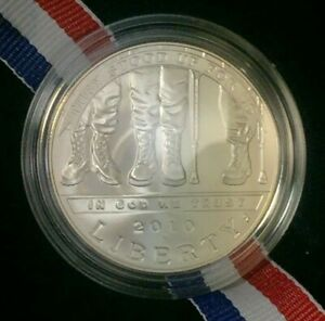 2010 DISABLED VETERANS SILVER DOLLAR UNCIRCULATED