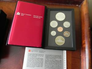 CANADA 1987 DOUBLE DOLLAR PROOF SET ORIGINAL BOX & COA