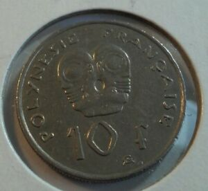 2014 FRENCH POLYNESIA 10 FRANCS COIN       IN4536