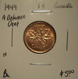 H CANADA GEORGE VI 1949 A BETWEEN SMALL CENT   BU