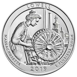 2019 US SILVER ATB LOWELL NATIONAL PARK 5 OZ COIN