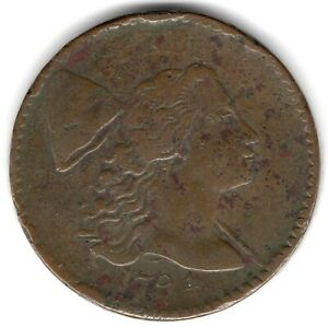 1794 LIBERTY CAP LARGE CENT  S 55    F CONDITION