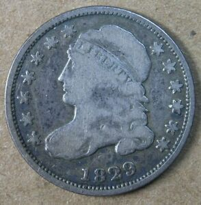 10C 1829 SMALL 10C CAPPED BUST DIME G VG   AVENUECOIN
