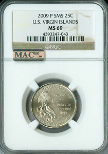 Click now to see the BUY IT NOW Price! 2009 P VIRGIN ISLANDS QUARTER  NGC MAC MS 69 SMS PQ FINEST POP 16 SPOTLESS .