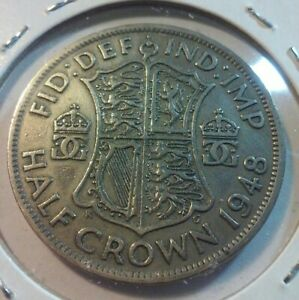 1948 GREAT BRITAIN HALF CROWN COIN    KM866    IN4946