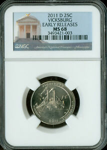 Click now to see the BUY IT NOW Price! 2011 D VICKSBURG PARKS QUARTER NGC MAC MS 68 PQ FINEST GRADE MAC SPOTLESS .