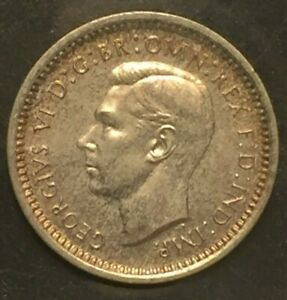 GREAT BRITAIN 1937 2 PENCE FROM MAUNDY SET LOW MINTAGE SILVER KM847