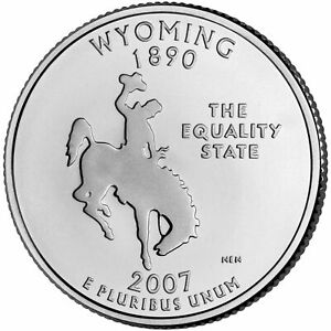 2007 P WYOMING STATE QUARTER BU COIN CLAD. FINISH YOUR COIN BOOK  0151