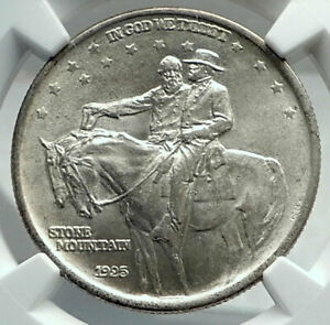 Click now to see the BUY IT NOW Price! 1925 STONE MOUNTAIN CIVIL WAR COMMEMORATIVE SILVER HALF DOLLAR COIN NGC I79691