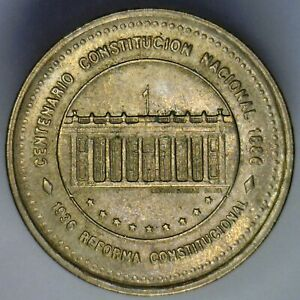 COLOMBIA 1988 50 PESOS  NATIONAL CONSTITUTION CENTENNIAL OF 1886  NICE COIN
