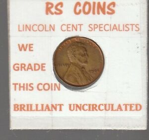1944  LINCOLN CENT / BRILL UNCIRCULATED  / FROM RS COINS 72115  FAST FREE SHIP