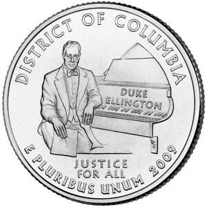 2009 P DISTRICT OF COLUMBIA QUARTER AMERICAN TERRITORIES BU CLAD 8154