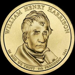 2009 D PRESIDENTIAL DOLLAR WILLIAM HENRY HARRISON BU CLAD 6006