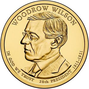 2013 P PRESIDENTIAL DOLLAR WOODROW WILSON BU COIN UNCIRCULATED  CLAD 6705