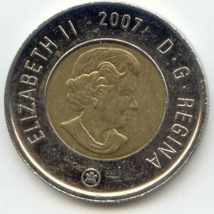 CANADA 2007 TOONIE CANADIAN 2 DOLLAR $2 TWO DOLLAR EXACT COIN SHOWN