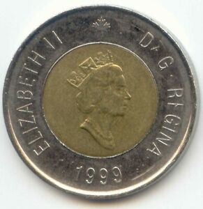 CANADA 1999 NUNAVUT TOONIE CANADIAN 2 DOLLAR $2 TWO DOLLAR EXACT COIN SHOWN