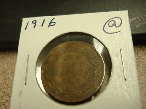 1916   CANADIAN PENNY   CANADA ONE CENT   CIRCULATED