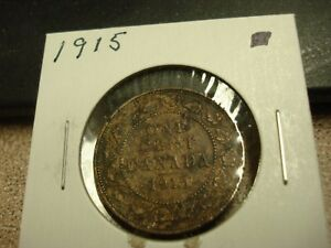 1915   CANADIAN PENNY   CANADA ONE CENT   CIRCULATED