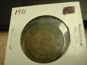 1911   CANADIAN PENNY   CANADA ONE CENT   CIRCULATED