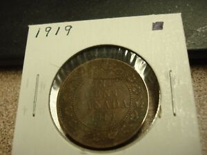 1919   CANADIAN PENNY   CANADA ONE CENT   CIRCULATED