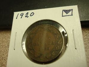 1920   CANADIAN PENNY   CANADA ONE CENT   CIRCULATED