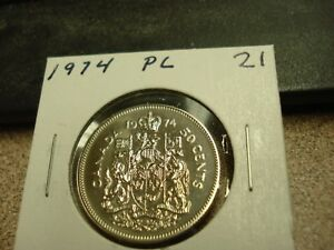 PROOF LIKE   1974   CANADIAN HALF   BRILLIANT UNCIRCULATED   CANADA 50 CENTS