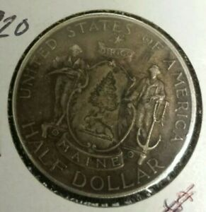 1920 MAINE CENTENNIAL COMMEMORATIVE SILVER HALF DOLLAR