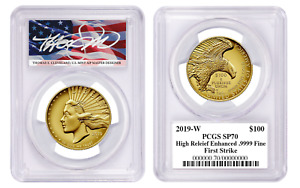 Click now to see the BUY IT NOW Price! PRESALE: 2019 W $100 AMERICAN LIBERTY GOLD HIGH RELIEF PCGS SP70 FLAG CLEVELAND