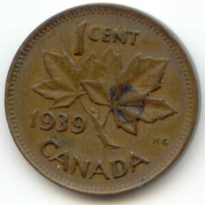 CANADA 1939 PENNY CANADIAN 1 CENT ONE 1C  EXACT  COIN