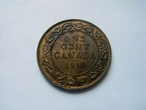 1918 CANADA LARGE ONE CENT   HIGH GRADE