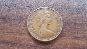 COIN FROM GREAT BRITIAN    1 NEW PENNY   DATED 1971   48 YEARS OLD