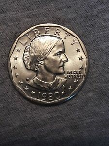1980 D SUSAN B. ANTHONY DOLLAR BU DIE CRACKS ERROR  175