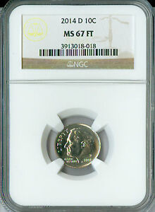 2014 D ROOSEVELT DIME NGC MAC MS67 FT  MAC SPOTLESS.