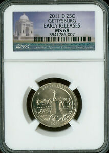 Click now to see the BUY IT NOW Price! 2011 D GETTYSBURG PARKS QUARTER NGC MS 68 E.R. FINEST GRADE .