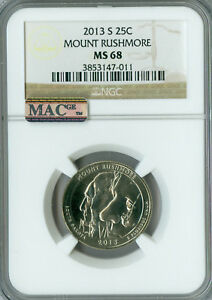 Click now to see the BUY IT NOW Price! 2013 S MOUNT RUSHMORE QUARTER NGC MAC MS 68 PQ FINEST GRADE MAC SPOTLESS .