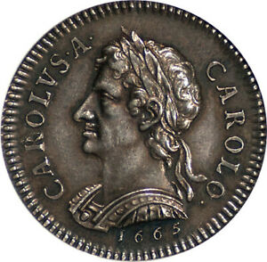 Click now to see the BUY IT NOW Price! GREAT BRITAIN 1665 CHARLES II PROOF SILVER FARTHING PATTERN NGC PF 63