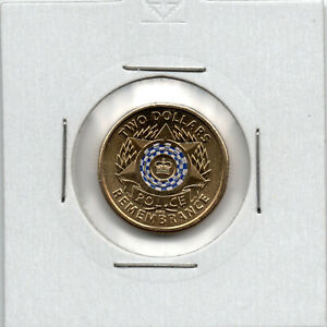 2019   AUSTRALIAN $2   POLICE REMEMBRANCE    CIRCULATED