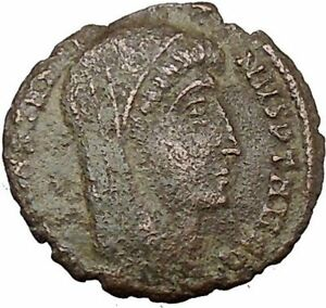 CONSTANTINE I THE GREAT CULT  ANCIENT ROMAN COIN CHRISTIAN DEIFICATION  I37834